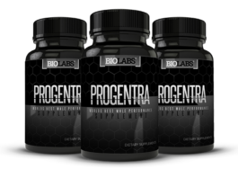 Three Bottles of Progentra Male Enhancement Supplements