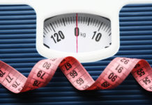 weighing scale and tape measure