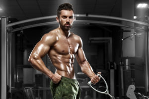 ripped guys working out in the gym