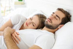 couple having enough sleep