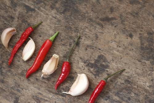chili pepper and garlic for increased libido