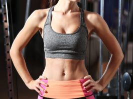 ft woman with flat belly and abs