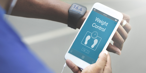 weight control on phone app smart watch