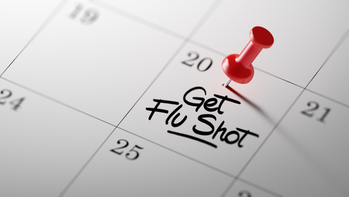 flu shot schedule on calendar
