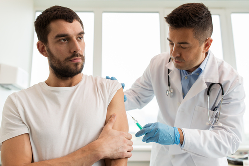 administering a flu shot
