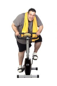 obese man losing weight on bike gets better