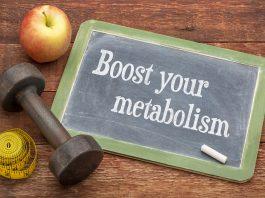 boost metabolism written on chalk board