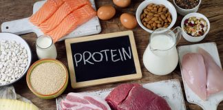 protein rich food on table