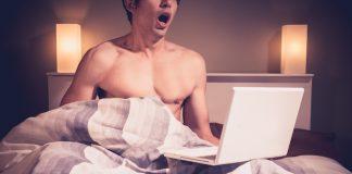 Progentra user masturbating to internet porn