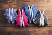 4 pairs of running shoes