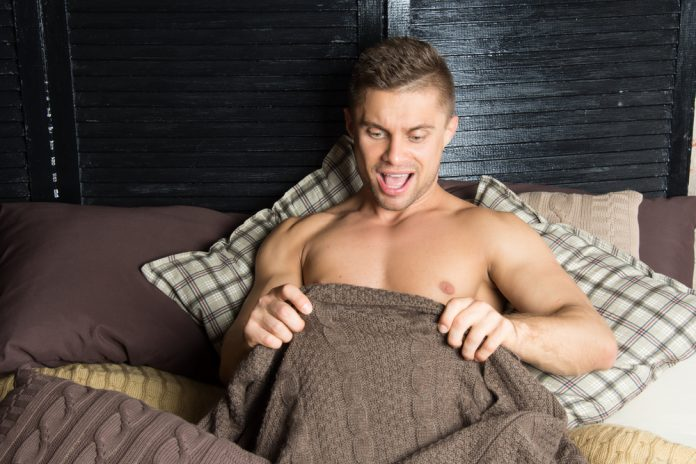 shocked underneath the blanket