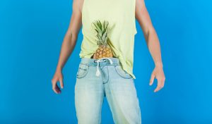 pineapple in jeans