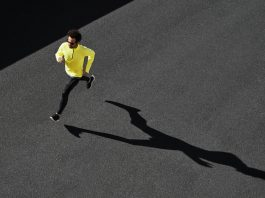 running man shadow