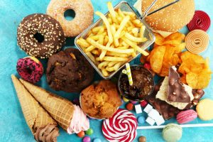 sugary and starchy food