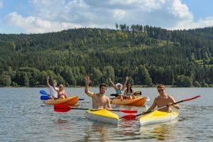 Group of People Kayaking